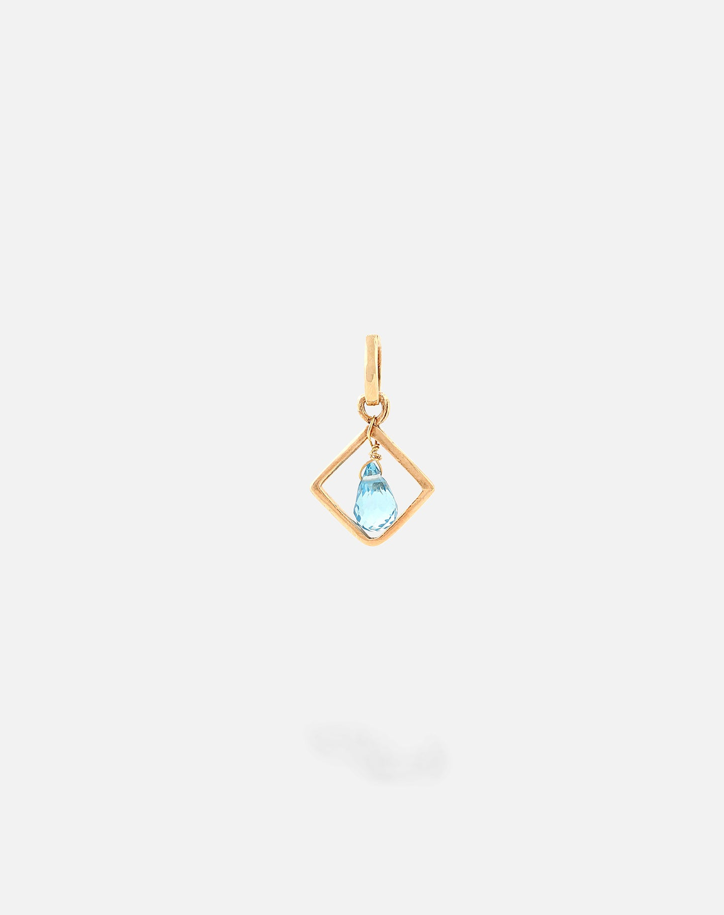 Blue Topaz Colored Stone Charm