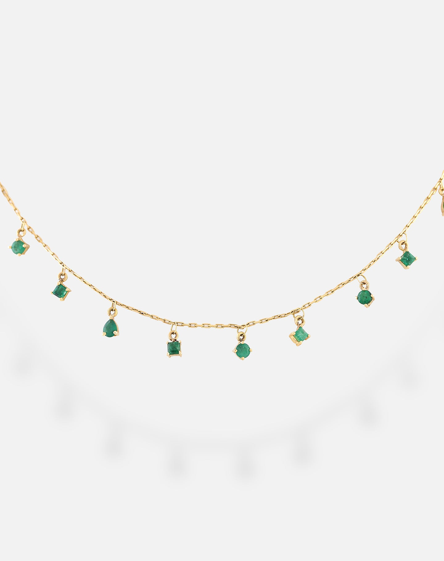 Rose Gold Emerald Shape Necklace