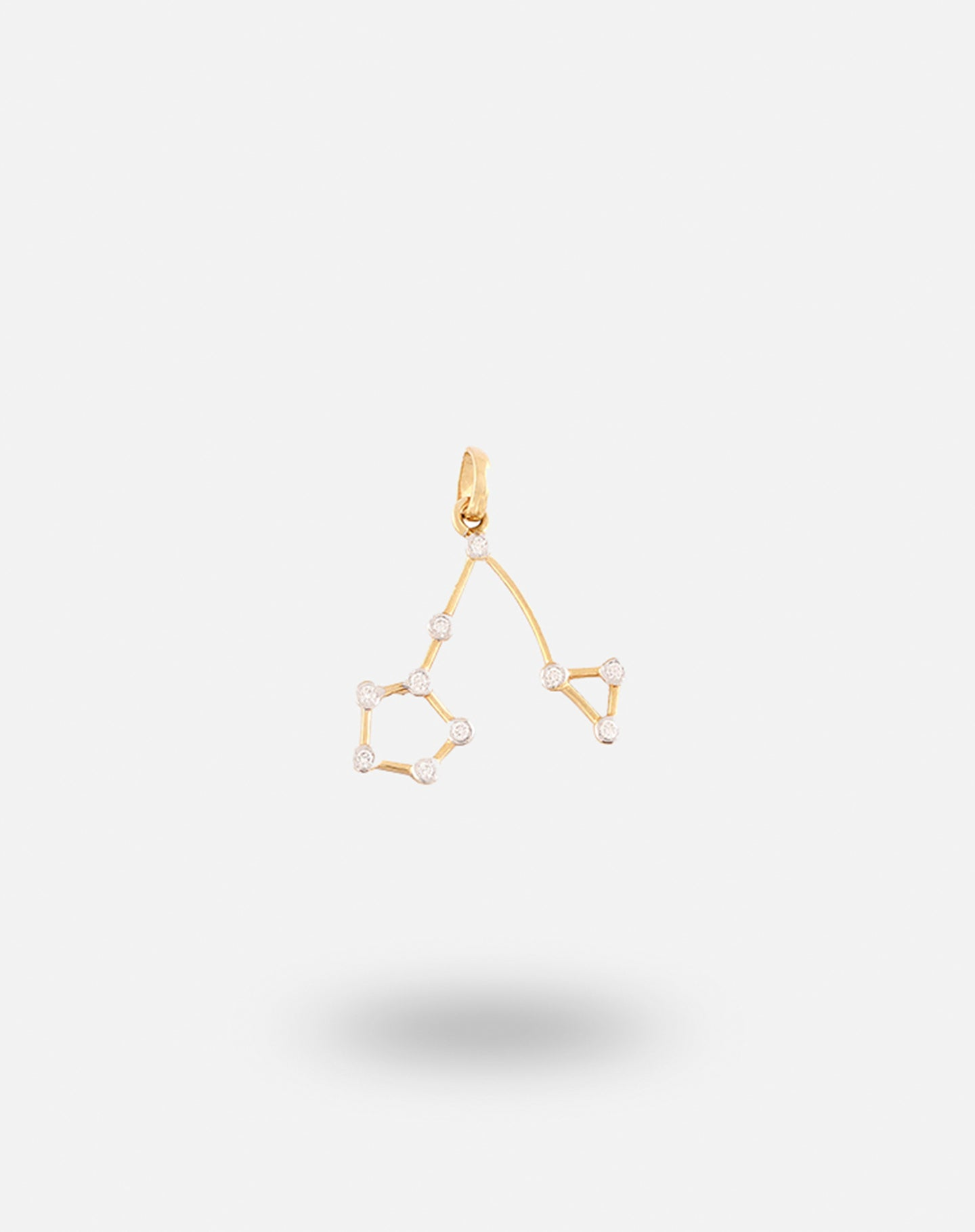 Gold Constellation Charm Pisces