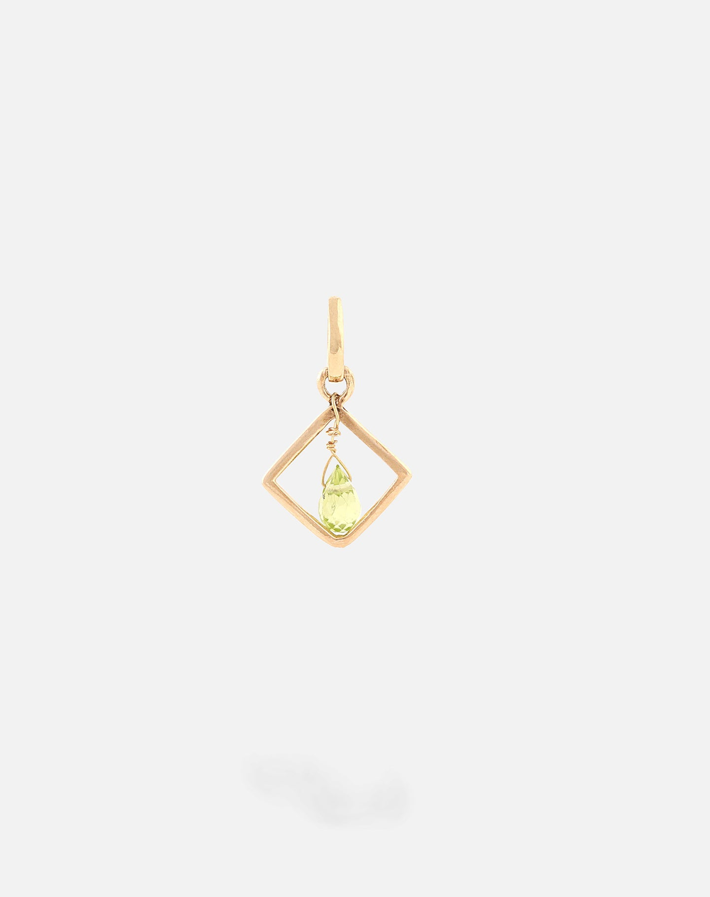 Gold Colored Stone Motivation Charm Periodot
