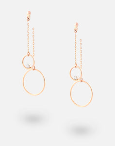 Rose Gold ThreeSixty One Up-down Earrings