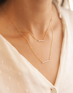 Trendy Double Bar Necklace