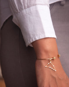 Gold Constellation Charm - Capricorn