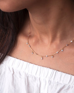 Trendy DOTM Short Diamond Necklace