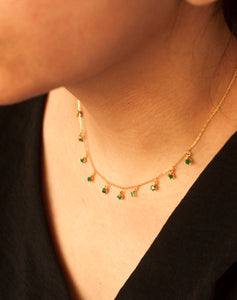 18kt Gold Emerald Shape Necklace
