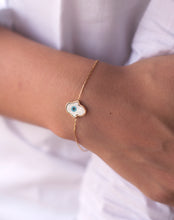 Load image into Gallery viewer, Hamsa Hand Evil Eye Bracelet