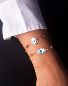 Exclusive Links Marquise Evil Eye Diamond Bracelet
