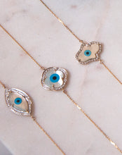 Load image into Gallery viewer, Marquise Evil Eye Diamond Bracelet collection - Bold