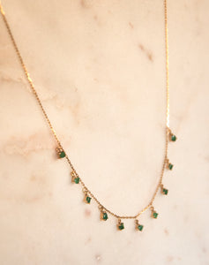 Emerald Shape Necklace Gold