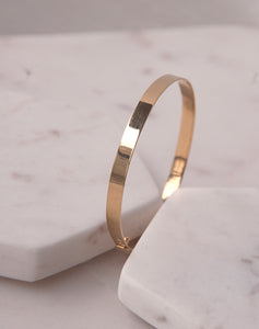 Gold Classic Flat Bangle