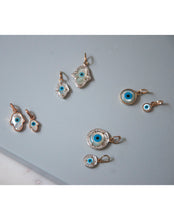 Load image into Gallery viewer, Evil Eye Charm - Hamsa Hand with Diamonds Small