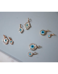 18kt Gold evil eye Charms