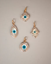 Load image into Gallery viewer, Exclusive Evil Eye Charm - Clover with Diamonds