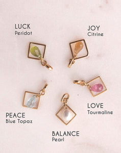 Simple Colored Stone Motivation Charm Collections