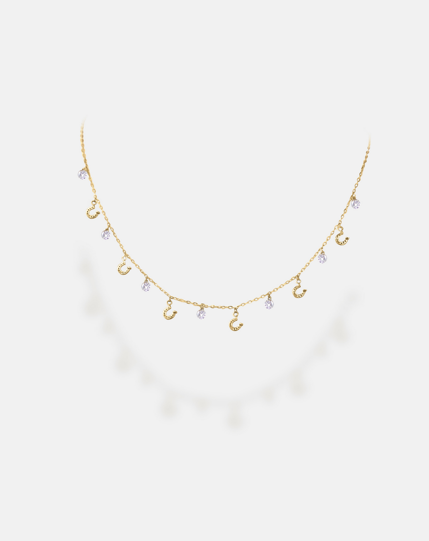 Scattered Horseshoe Diamond Necklace