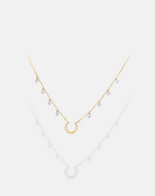 Load image into Gallery viewer, Horseshoe Diamond Necklace
