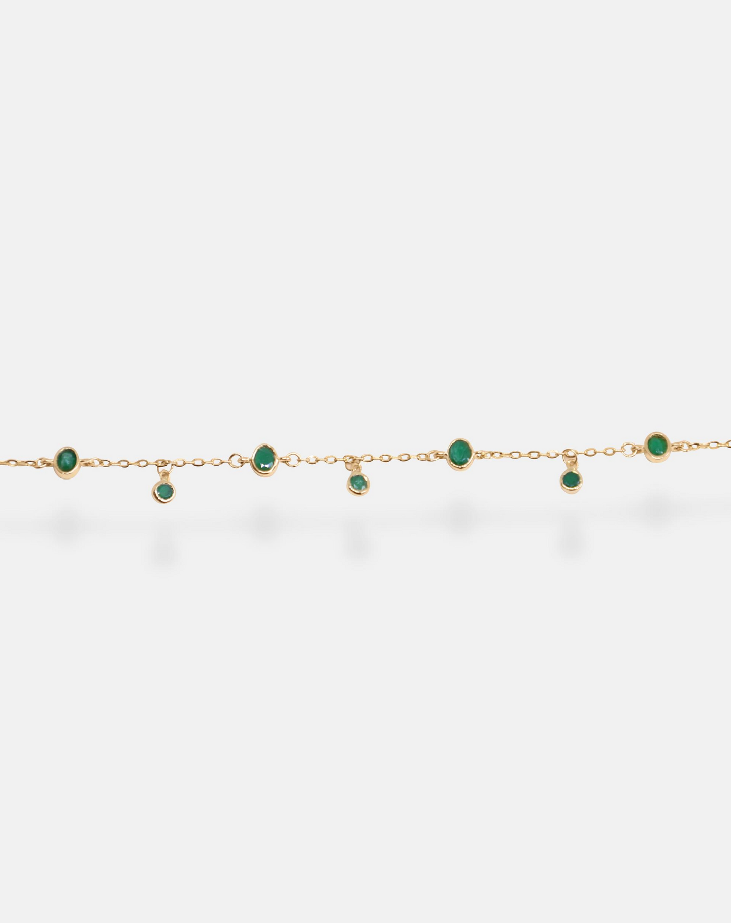 Emerald Oval and Round Bracelet