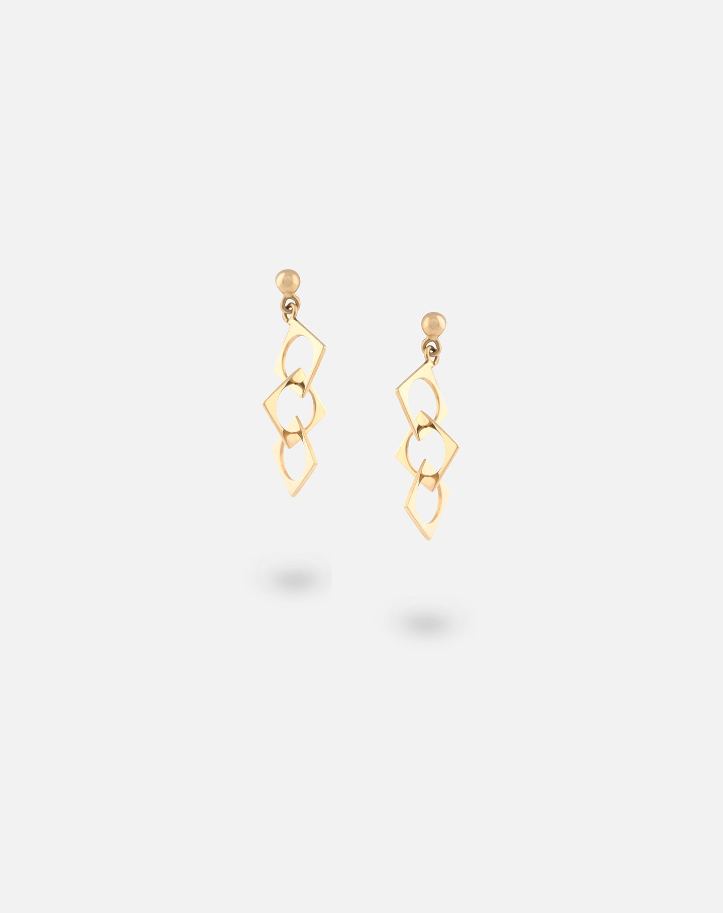 Rose Gold Link Up Dangling Earrings