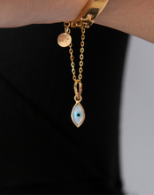 Load image into Gallery viewer, Evil Eye Charm - Marquise Small