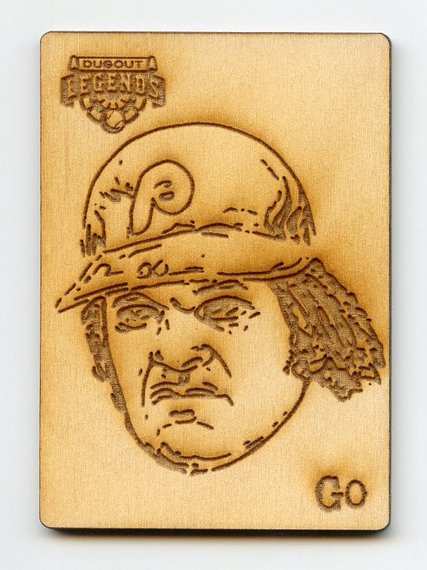 Pete Rose Wood Engraving