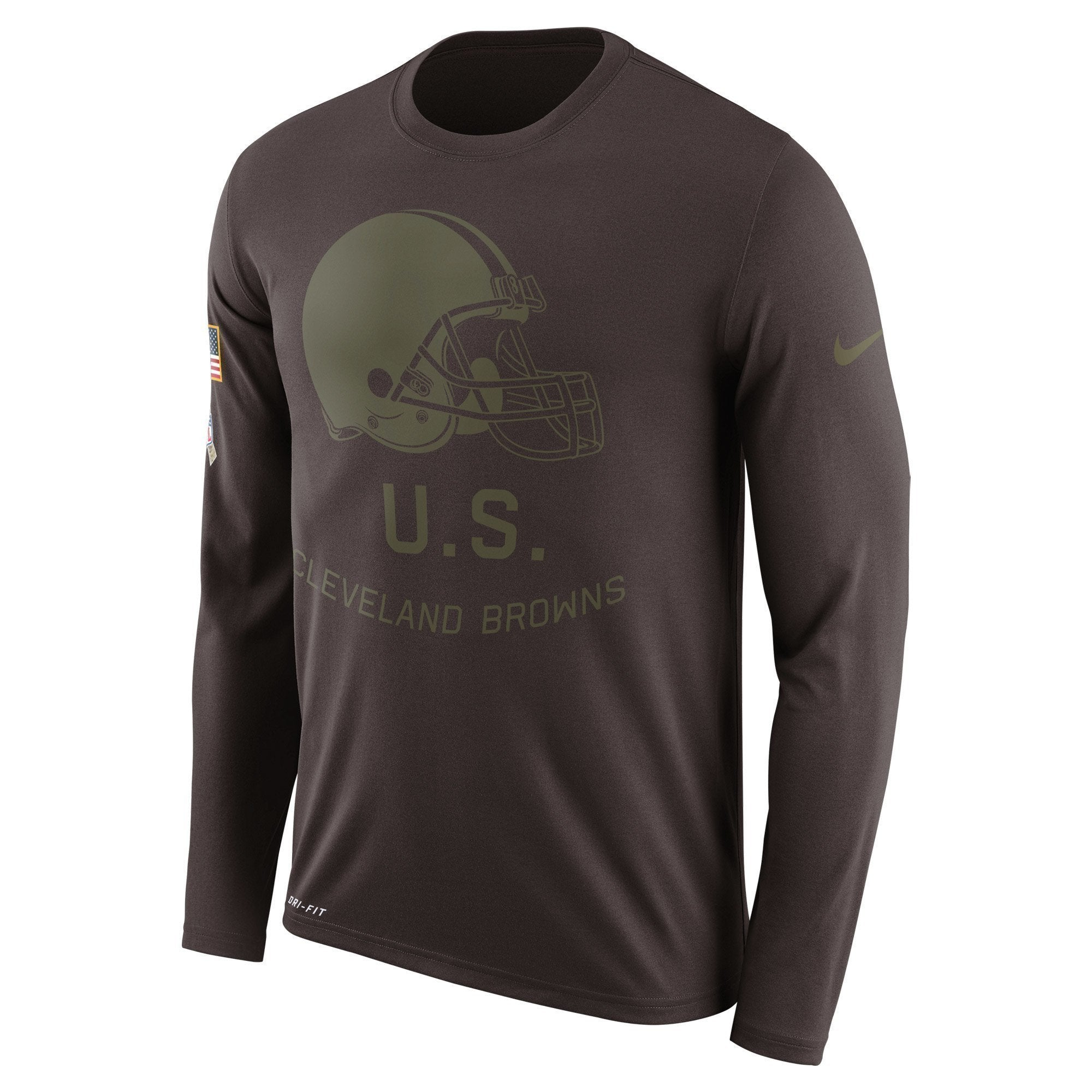 the latest 4feb0 77e12 Cleveland Browns Salute To Service Long Sleeve Shirt