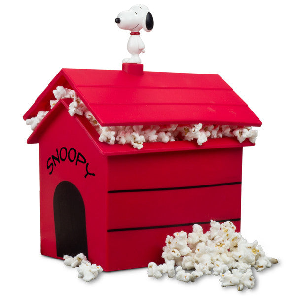 New! Peanuts Dog House Microwave Popcorn Popper