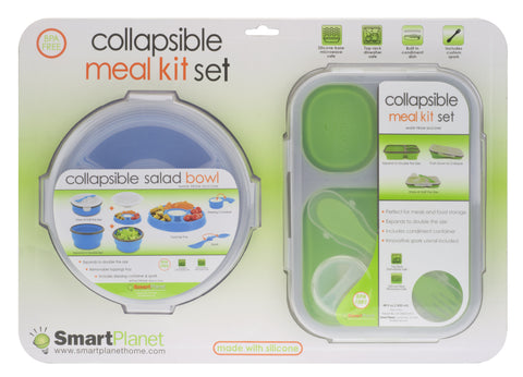 Collapsible Meal Kit Set- Salad Bowl & Large Meal Kit