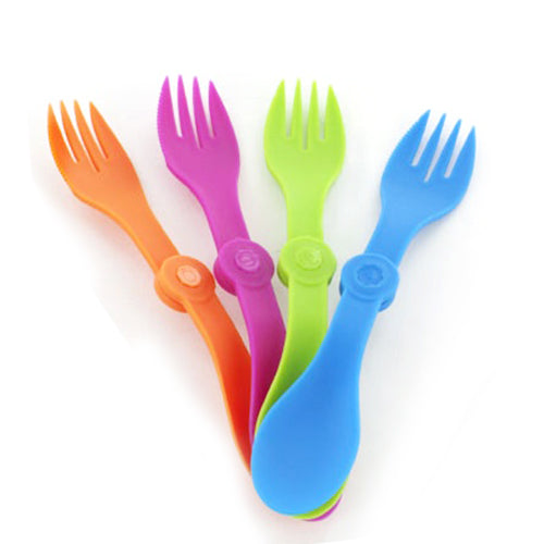 Meal Kit Replacement Foldable Spork & Condiment Lid