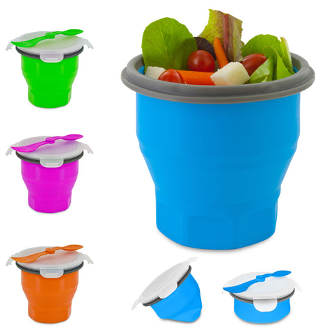 Collapsible soup and Salad Bowl