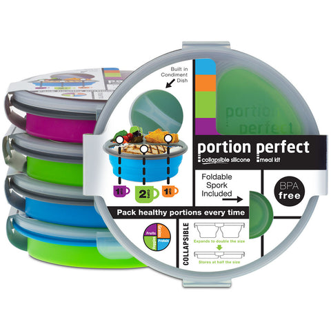 Portion Perfect Round 3 Compartment Meal Kit