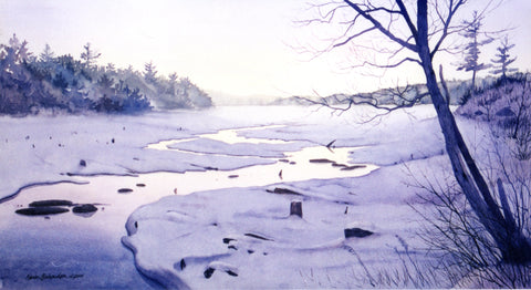 Winter Interrupted, watercolour by Karen Richardson
