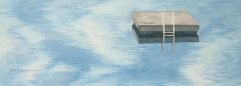 Raft in the Clouds, watercolour by Karen Richardson