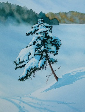 Jennifer's Winter Wonderland, watercolour by Karen Richardson