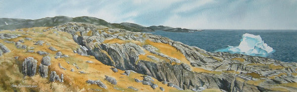 Where Ice Meets Rock, watercolour by Karen Richardson