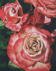 Rhapsody in Red, watercolour by Karen Richardson