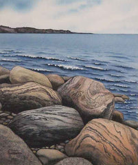 Saltwater and Stone, watercolour by Karen Richardson