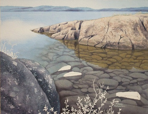 Crystal Clear, watercolour in progress, by Karen Richardson