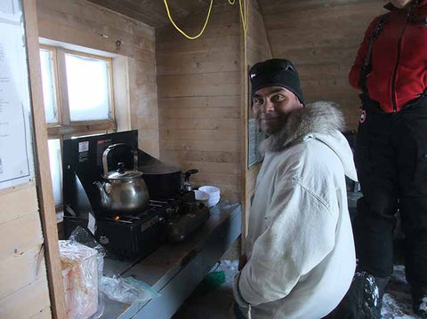 Baffin Island guide making tea
