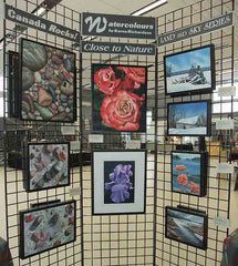 Karen Richardson's watercolour display at The Northern Art Show in Apsley, August 2016.