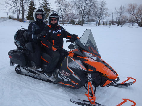 Karen Richardson's snowmobile adventure