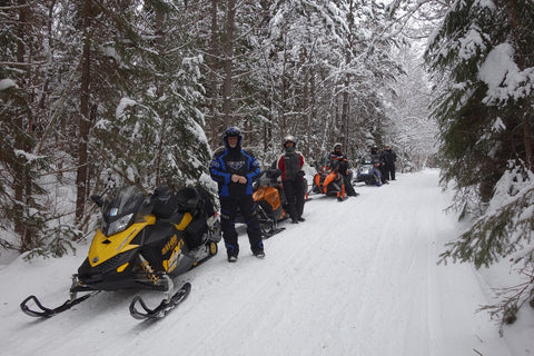 Karen Richardson's snowmobiling friends
