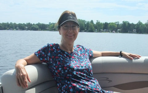 Karen Richardson on Stoney Lake
