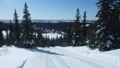 Snowmobile trail near Labrador City