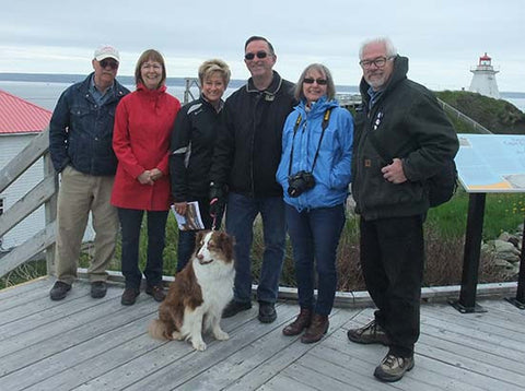 Karen Richardson with husband and friends in New Brunswick, Canada