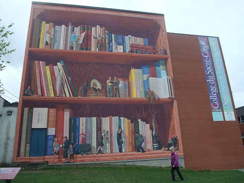 Heart, Culture and Education Mural, Sherbrooke, 2011, representing 100+ regional authors