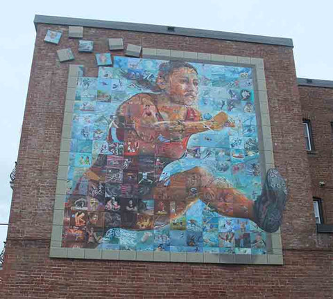 Canada Games 2013 Mural, Sherbrooke, made by 200 local and national artists