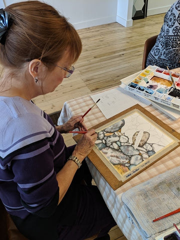 Karen Richardson Demonstrating Watercolour