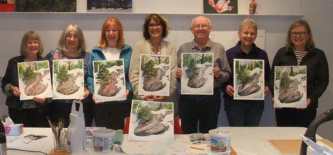 Snow and Stone watercolour workshop taught by Karen Richardson
