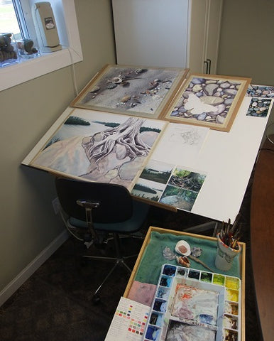 Karen Richardson's Spring Open Studio event - paintings in progress