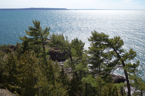 Lake Superior at Gros Cap. Photo by Karen Richardson